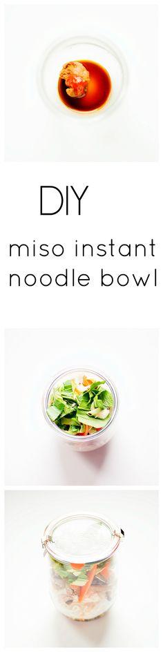 DIY instant miso noodle bowl | heathersfrenchpress.com #miso