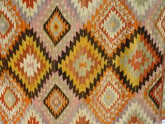 "VINTAGE Turkish Kilim Rug Carpet, Handwoven Kilim Rug, Antique Kilim Rug ,Decorative Kilim - 90"" x 64""  (228 x 164 CM) on Etsy, $689.00"