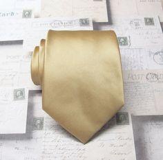 Gold Tie. Wedding Ties. Mens Tie Dusty Gold Mens by TieObsessed