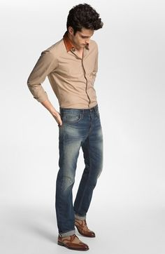 W.R.K. Sport Shirt & Asbury Park Jeans  available at #Nordstrom