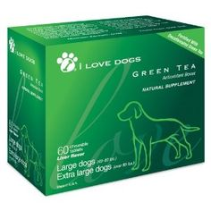 """Our Green Tea supplement is a Modern Dog Magazine """"Fave Find! Big Dogs, Large Dogs, I Love Dogs, Pet Health, Health Tips, Green Tea Supplements, The Fosters, Dog Lovers, Treats"""