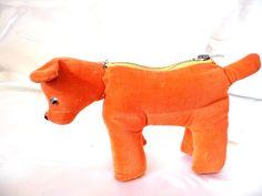 Vintage Velvet Dog Purse