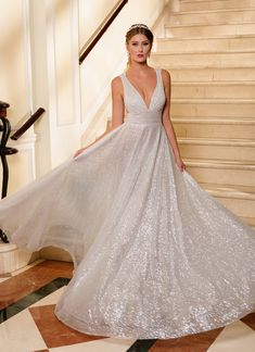 A women should sparkle wherever she goes! This magical ball gown from Naama & Anat is fit for a modern princess! » Praise Wedding Community