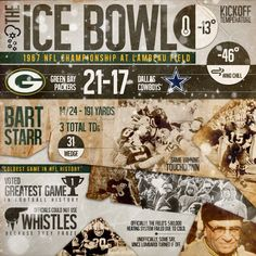 """sgtgrunt0331: """"The 1967 National Football League Championship Game between the Western Conference champion Green Bay Packers and the Eastern Conference champion Dallas Cowboys was the 35th..."""
