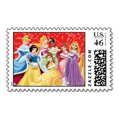 disney postal stamps | Holiday Disney Princesses T-Shirt | Official Disney Shirts