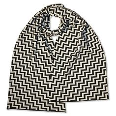 https://www.cityblis.com/5227/item/7801 | Scarf extraflat Corner, black & white - $122 by Fortschritt-Berlin | 100% extrafine Merino Wool, Jacquard-Doubleface-Knit,  Single-threaded Extra-Wide Scarf, ca. 180 x 30 cm (ca. 71 x 12 in) Made in Germany | #Scarves