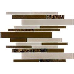 Sassi - Expresso Glass Stone Strip Mosaics - 94-080 - Home Depot Canada