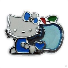 style your Crocs Shoe Charm kitty with apple blue metal #4057, metal Clogs stickers | fun Clip Style your Crocs. $7.77