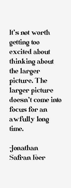 Jonathan Safran Foer, Second Chances, Math Equations, Life