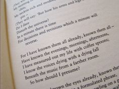 """""""I have measured out my life with coffee spoons."""" The Love Song of J Alfred Prufrock - TS Elliot"""