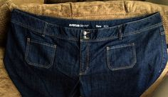 AVENUE DENIM JEANS Womens Sz 32 Flare W52 x L28 1/2 Dk Rinse SUPER CUTE EUC!!! #I need $$ #Please Bid Now!! #Super Cute Plus Size Jeans