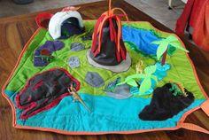 dinosaurs playmat, tapis de jeux de voyage dinosaures