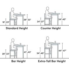 Chair, bar or counter height bar stool? Ultimate guide to buy your perfect Bar Stool. 26 Bar Stools, Counter Height Stools, Swivel Bar Stools, Bar Counter, Table Height, Chair Height, Bar Stool Height, Home Decor Kitchen, Kitchen Interior