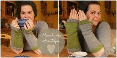 Einfache bunte Armstulpen stricken - schoenstricken.de