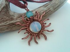 white fire opal pendant wrap copper wire | Flickr - Photo Sharing!