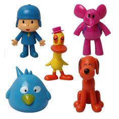 5pcs/set Cartoon Pocoyo Zinkia Toys Dolls PVC Action Figures Child Toys