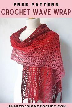 One Skein Crochet, Crochet Scarves, Double Crochet, Single Crochet, Easy Crochet, Free Crochet, Crochet Cowls, Crocheted Lace, Crochet Summer