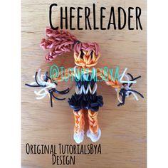 Original TutorialsByA Rainbow Loom Cheerleader Action Figure/Figurine