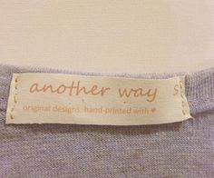 print clothing labels at home - perfect for those hand knits