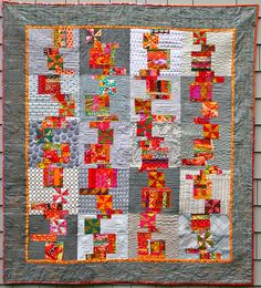 """""""Stacks of Days""""....A birthday quilt finished. by opal c, via Flickr"""