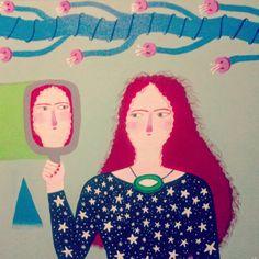 EL JARDÍN ESPIRITUAL La ley del espejo  Mural en acrílico. www.sabinablasco.blogspot.com