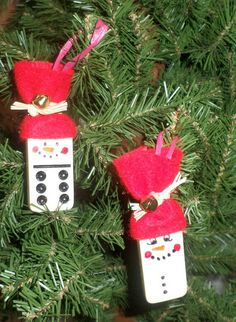 Domino Snowmen Ornaments