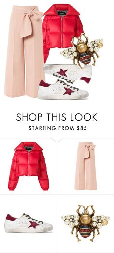 """Polyvore Style #pink #oversize #downjacket #adidas #fashion #whattowearit #prettygirl#look #anikle"" by andzelika-niklewicz on Polyvore featuring MISBHV, Topshop, Golden Goose and Gucci"