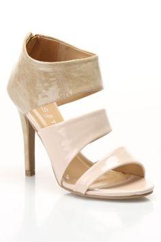 Sandal Heels in Beige.