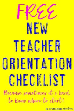 Are you a new teacher? Or perhaps you're moving to a new school this school year? Either way - starting a new school year can be overwhelming, stressful, and flat out scary. Check out this FREE New Teacher Orientation Checklist, Welcome New Teachers, Meet The Teacher, Teacher Binder, Teacher Organization, Teacher Stuff, School Leadership, Educational Leadership, First Year Teaching, Student Teaching