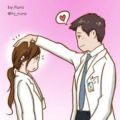 Medical Drawings, Medical Art, Medical Field, Medical School, Dentist Cartoon, Doctors Korean Drama, Medicine Student, Studying Medicine, Doctor Quotes