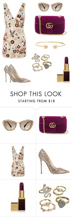 """""""Loving purple !!!"""" by hanakalesic ❤ liked on Polyvore featuring Miu Miu, Gucci, Topshop, Jimmy Choo, Tom Ford and Mudd"""