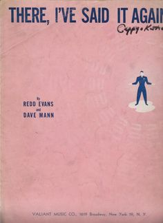 1941 THERE IVE SAID It Again Vintage Sheet Music by MoreThanBooks, $6.99