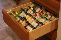 Spices in a drawer! Yes please!