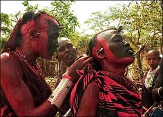 Tanzania's Maasai males become men through the elaborate ritual of the Eunoto ceremony, held just once every 15 years.    This is when the junior warriors or morani, are promoted to the ranks of the seniors.