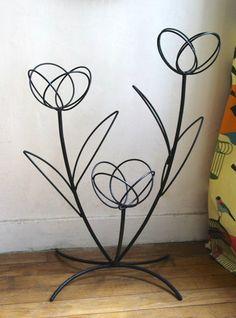 Etagere jardin metal pot porte fleurs plantes 60x70x60cm jardiniere fer forge deuba gmbh co for Porte plante fer forge blanc