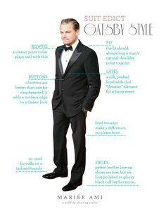 great gatsby tuxedo | The Great Gatsby STYLE How to Wear a Tuxedo - Leo Edition by Mariee ...