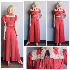 Photographed this Late 30s Boden Maid Silk Lounge set this morning....now why am I selling this?!
