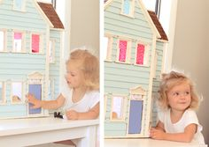 Dollhouse from Sarah Jane's site. And her sweet baby girl.