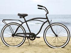 Sixthreezero 26 Inch Beach Cruiser Men's Single Speed Matte Black & Grey - Around the Block Beach Cruiser Bikes, Cruiser Bicycle, Beach Cruisers, Velo Vintage, Vintage Bicycles, Bici Retro, Inch Beach, Cycling Art, Cycling Quotes