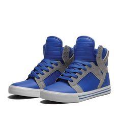 SUPRA SKYTOP Shoe | ROYAL / GREY - GREY | Official SUPRA Footwear Site