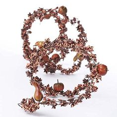 12 Feet of Artificial Mini Autumn Berry, Maple Leaf and Gourd Embellished Garland for Decorating and Crafting >>> Check out the image by visiting the link.