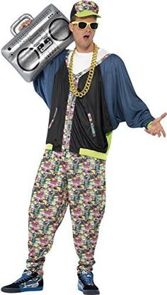 Men\u0027S 80\u0027S Street Hip Hop Fancy Dress Costume. Costume Homme Année 80Déguisement
