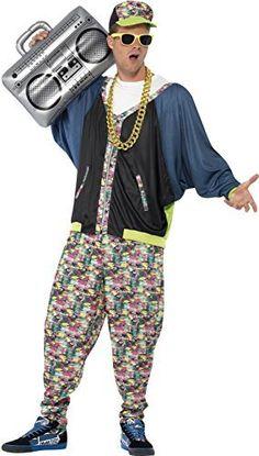Men\u0027S 80\u0027S Street Hip Hop Fancy Dress Costume. Costume Homme Année 80Déguisement