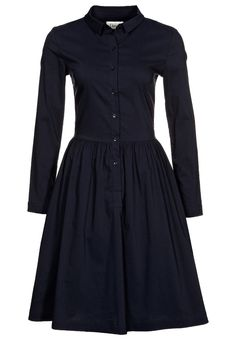 black Ganni CLASSIC SHIRT DRESS (via zalando) #fifties