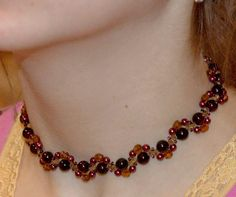 Free pattern for necklace Smuzi | Beads Magic  ~ Seed Bead Tutorials