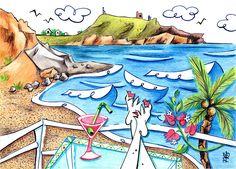 Cala Plomo Drawing - Cala Plomo Costa Del Sol - Parque Natural Cabo De Gata…