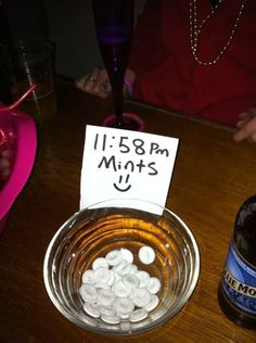 Cute idea just before your new years kiss!