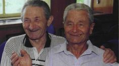 """No, I didn't die, I'm alive!"" - Brothers Reunite After 59 Years ----- This moving revelation was a direct result of the unique Pages of Testimony enterprise initiated by Yad Vashem's Hall of Names, whereby the names of Holocaust victims are collected through the testimony of relatives and acquaintances. ----- From left to right: Brothers Leonid (Leibish) and Lazar Sheiman"