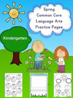 Ready-to-use, printable language arts and literacy pages with a spring theme that help kindergarten students practice and master the Common Core Standards. These pages require no preparation or lamination - simply print and use. These pages are perfect for morning work, small group and independent practice, literacy centers, homework, early finishers and more!