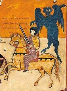 Las primeras representaciones del diablo como un monstruo horrible nacen de la época medieval